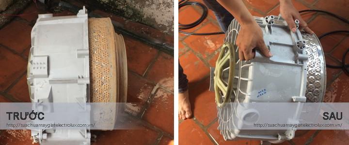 Hình ảnh bảo dưỡng máy giặt Electrolux