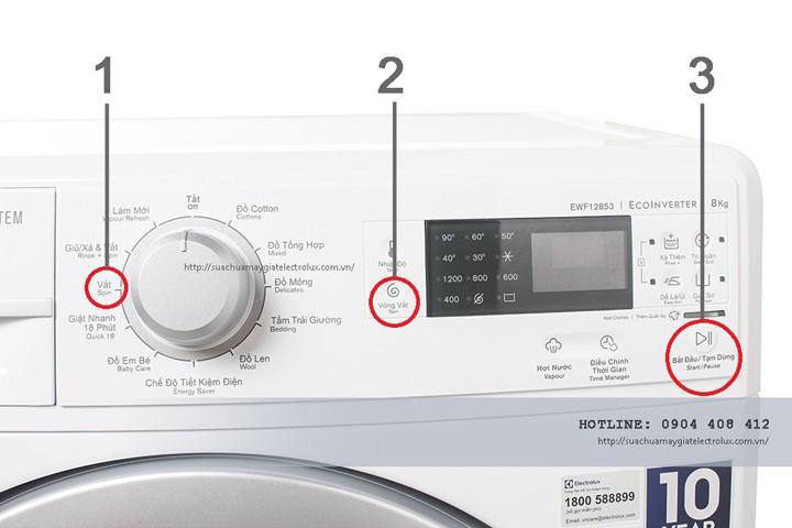 Chế độ vắt của máy giặt Electrolux có núm chọn