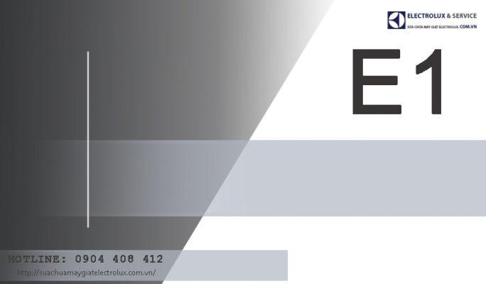 2 nguyên nhân máy giặt Electrolux báo lỗi E1 và cách khắc phục