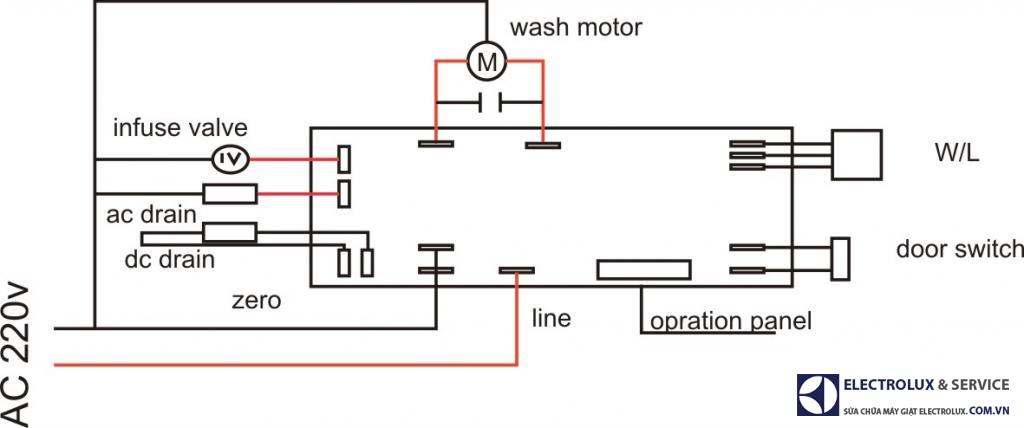Sơ đồ mạch điện máy giặt đa năng