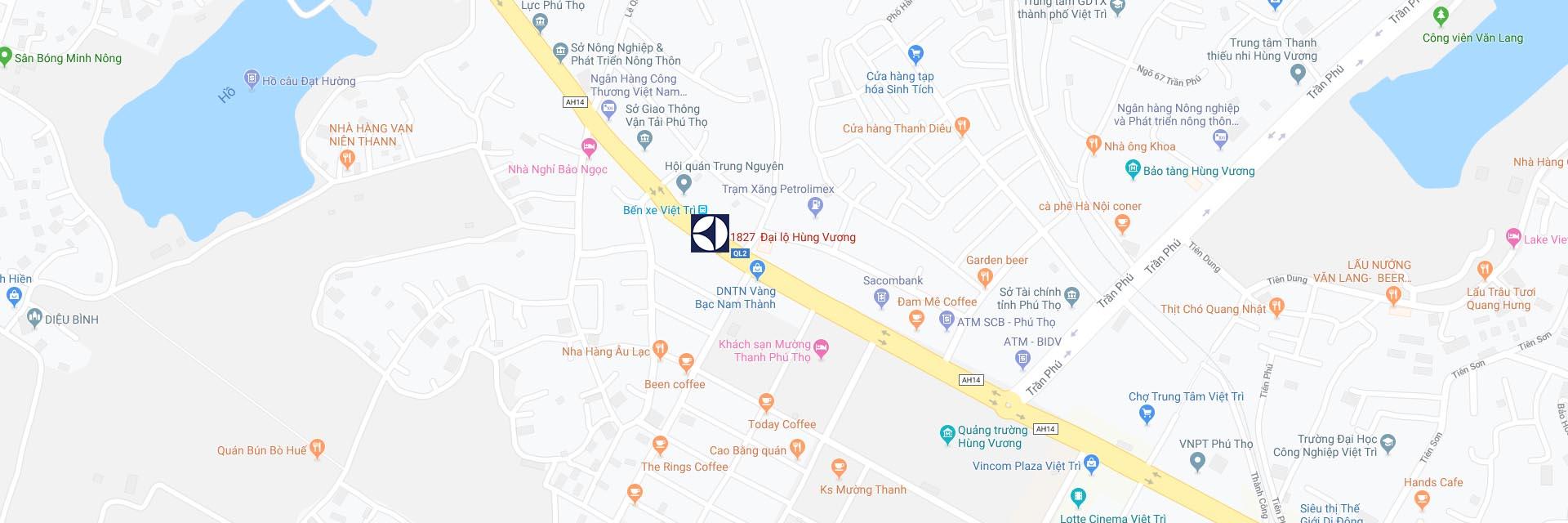 Google Maps Trung tâm bảo hành Electrolux tại Phú Thọ