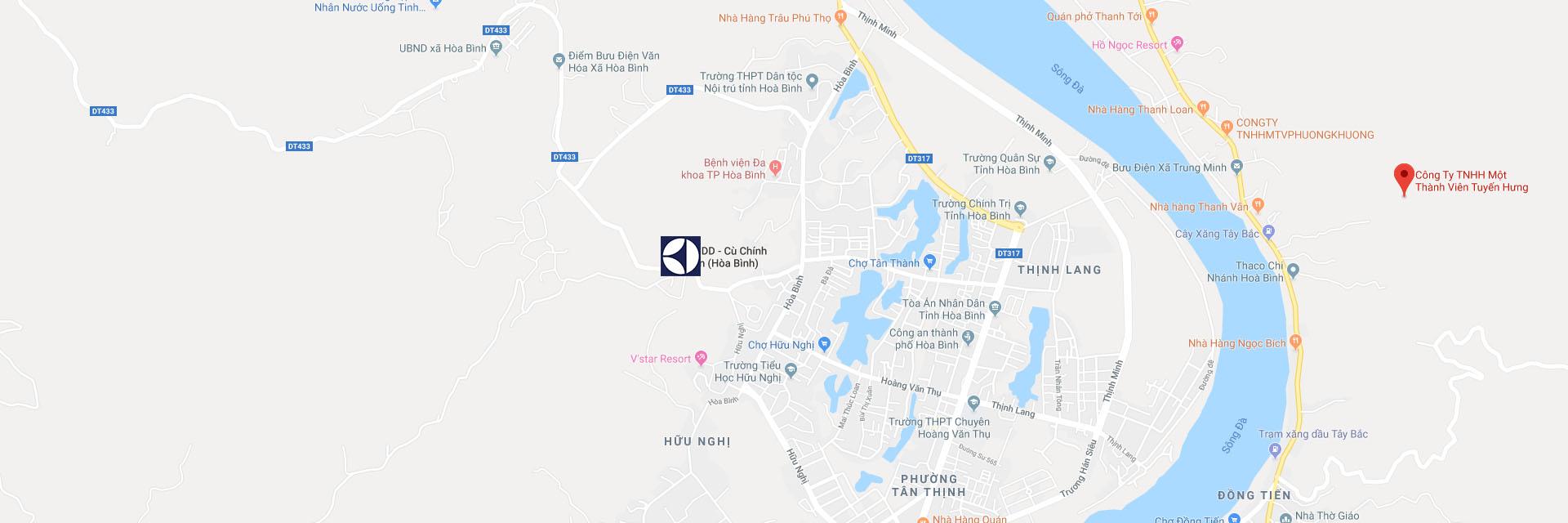 Trung tâm bảo hành Electrolux tại Hòa Bình trên Google Maps