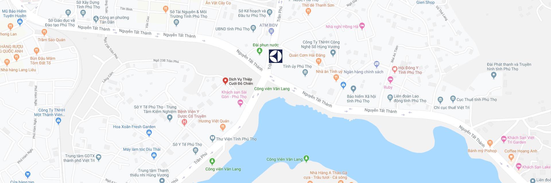 Google Maps Trung tâm sửa máy giặt Electrolux tại Phú Thọ