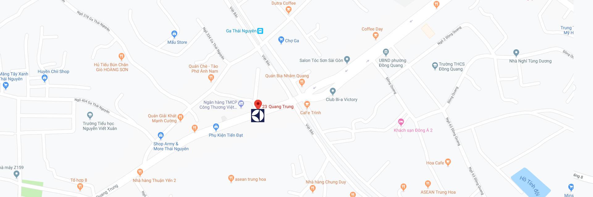 Trung tâm sửa máy giặt Electrolux tại Thái Nguyên trên Google Maps