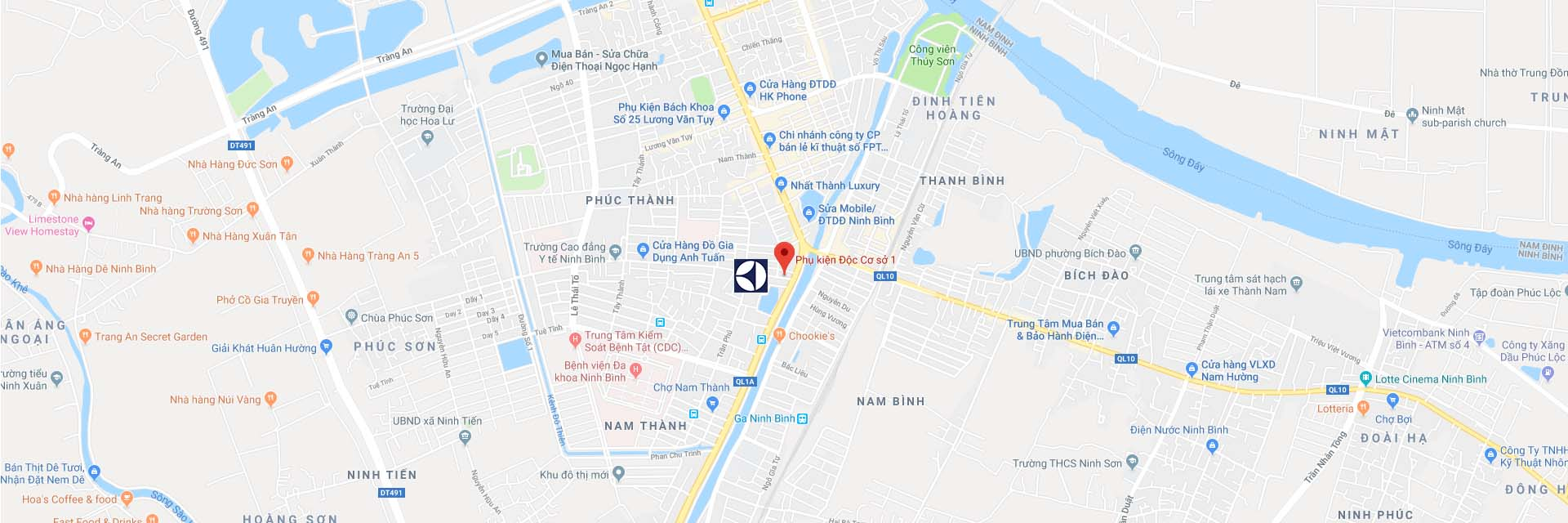 Google Maps trung tâm sửa máy giặt Electrolux tại Ninh Bình